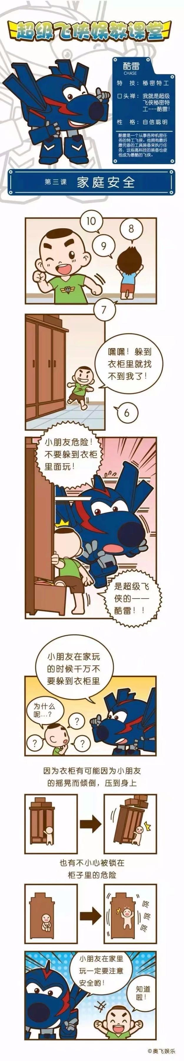 【超级飞侠】酷雷的娱教课堂第三课:家庭安全