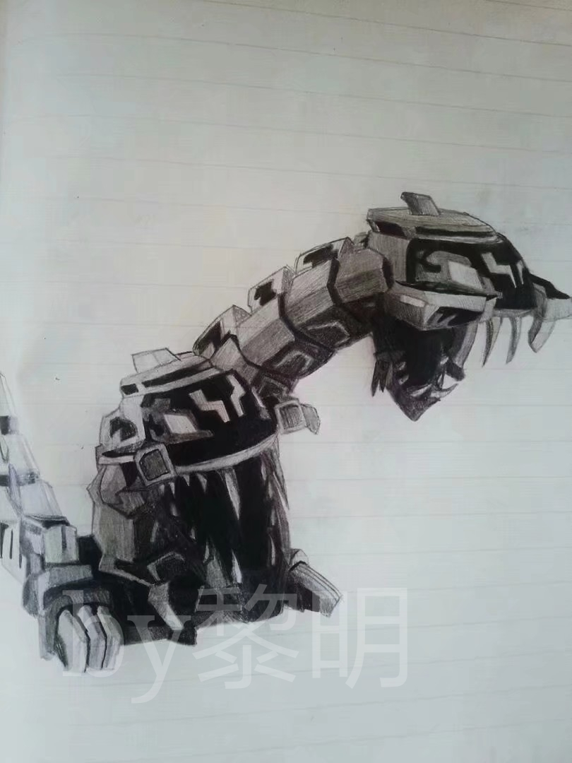 飞车的手绘